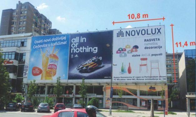 Velika površina na atraktivnoj poziciji u Novom Sadu, Bulevar Oslobođenja br. 30